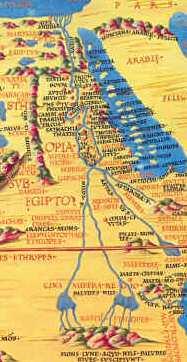 Carte Afrique Nil.L Egypte Antique