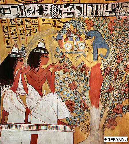 From the tomb of the workman Sennedjem