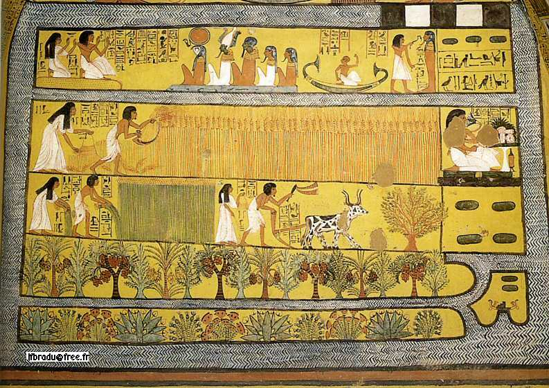 peinture égyptienne antique